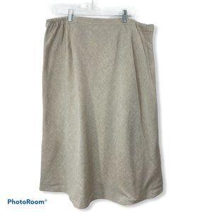 Talbots Lined Linen Skirt 22wp